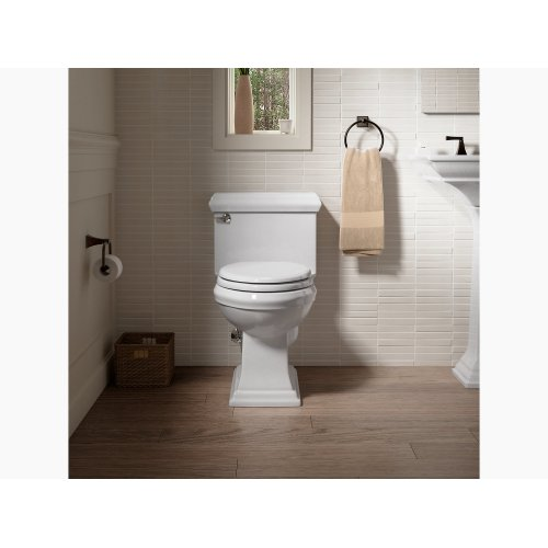 Thunder Grey Comfort Height One-piece Elongated 1.28 Gpf Toilet With Aquapiston Flushing Technology and Left-hand Trip Lever