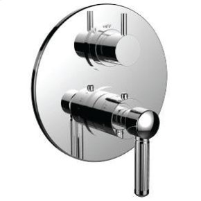 """1/2"""" Thermostatic Trim With 3-way Diverter Trim (shared Function) in Polished K Gold"""