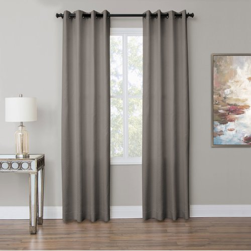 Aria 50x96 Grommet Top Panel Weighted Corners Fog
