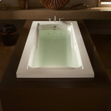 Green Tea 72x36 inch EcoSilent Combo Massage Tub  American Standard - White