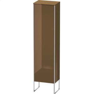 Tall Cabinet Floorstanding, Olive Brown High Gloss Lacquer