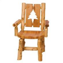Cedar Cut-out Log Arm Chair - Pine Tree