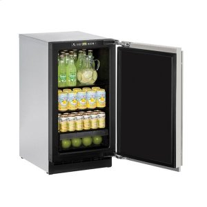 "U-Line18"" Refrigerator With Stainless Solid Finish (115 V/60 Hz Volts /60 Hz Hz)"