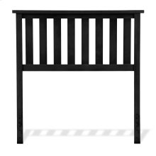 Belmont Wooden Headboard Panel with Slatted Grill Design, Black Finish, Twin