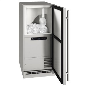 """U-LineOcl115 / Ocp115 15"""" Clear Ice Machine With Stainless Solid Finish, Yes (115 V/60 Hz Volts /60 Hz Hz)"""
