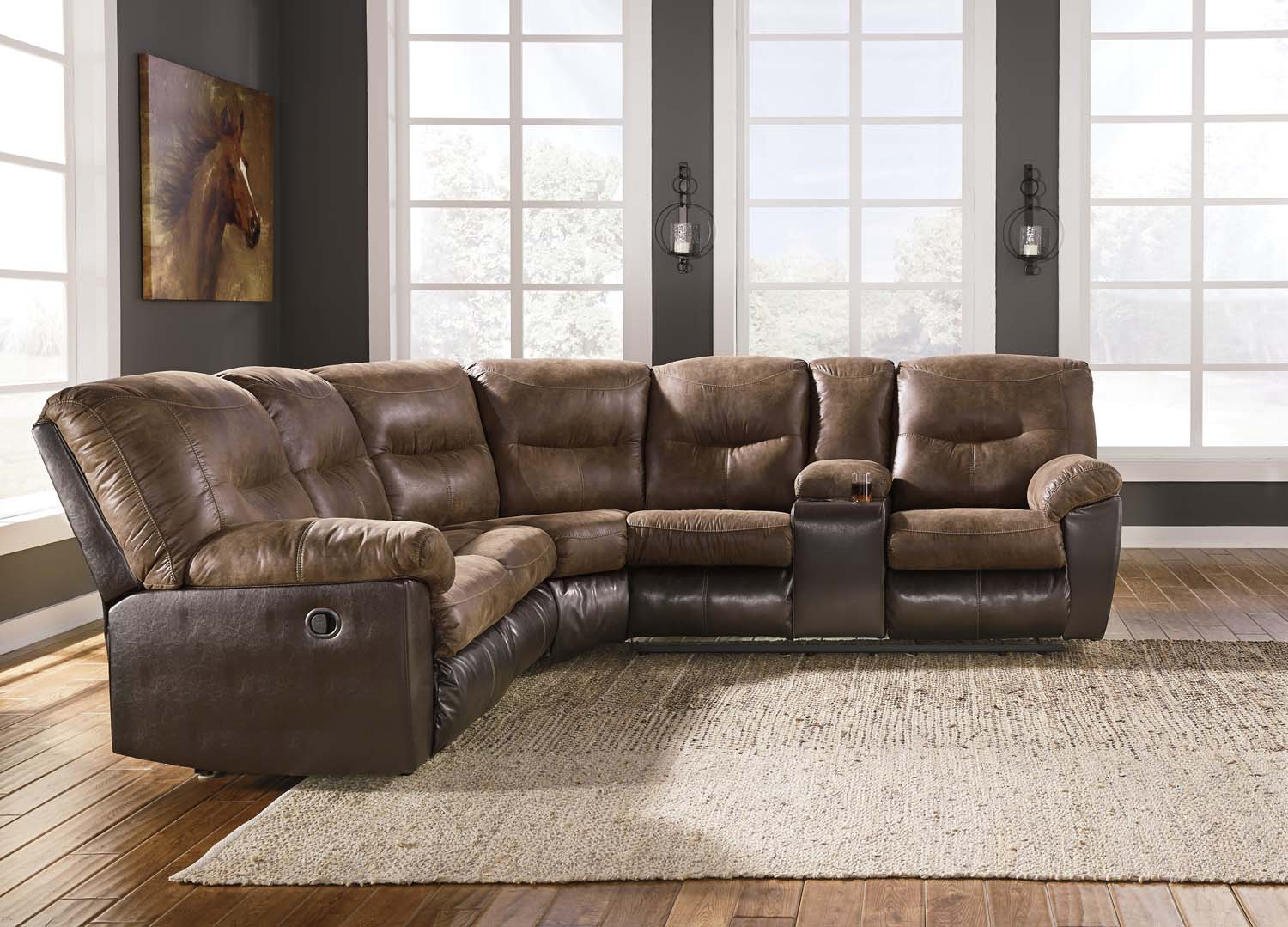 Charmant Leonberg   Coffee 2 Piece Sectional