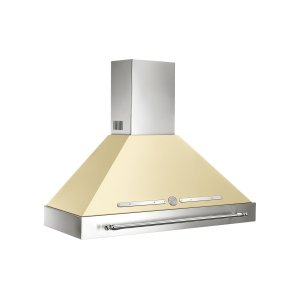 48 Wallmount Canopy and Base Hood, 1 motor 600 CFM Matt Cream -