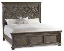 Bedroom Vintage West California King Wood Panel Bed