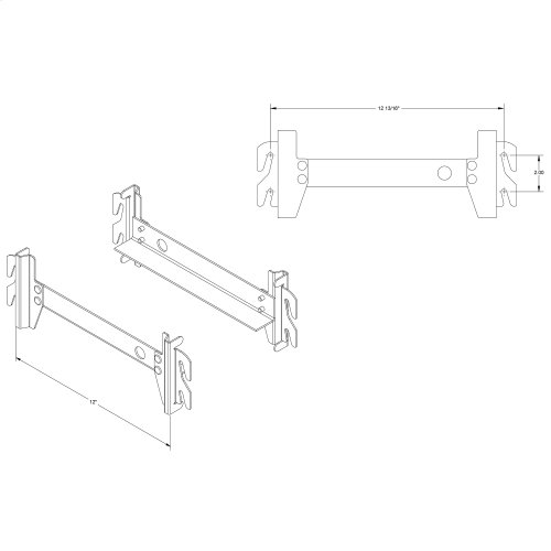 12-Inch Hook-On Display Rail for Headboard and Footboard Panels, 2-Pack