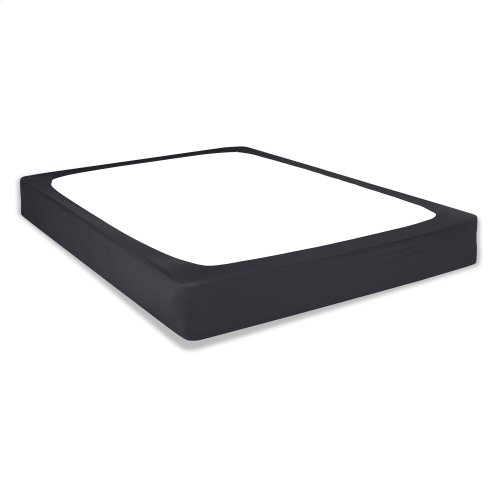 Sleep Plush + Black Fabric Box Spring Cover, Queen