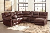 MacGrath - Mahogany 6 Piece Sectional