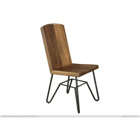 Solid Parota Chair w/ Iron base