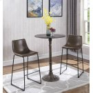 Industrial Brown Faux Leather Bar Stool Product Image