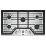 Whirlpool36-inch Gas Cooktop with EZ-2-Lift Hinged Cast-Iron Grates