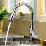 American StandardColony Soft 1 Handle High Arc Pull Down Kitchen Faucet  American Standard - Polished Chrome
