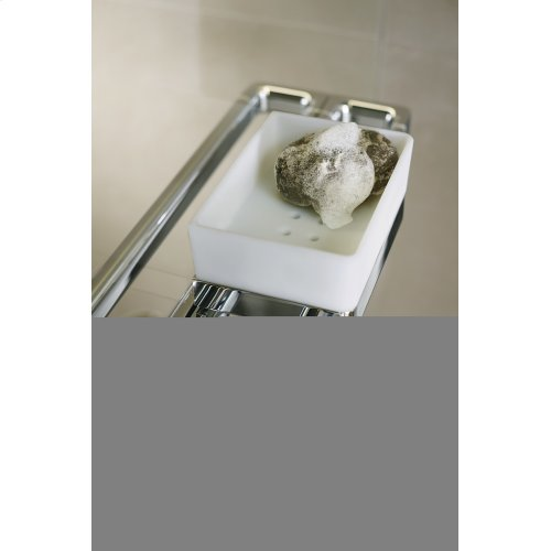 Brushed Chrome Rail bath towel holder 600 mm