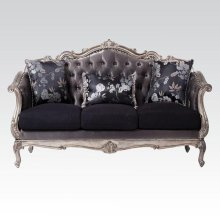 ANT. PLATINUM SOFA W/3 PILLOWS