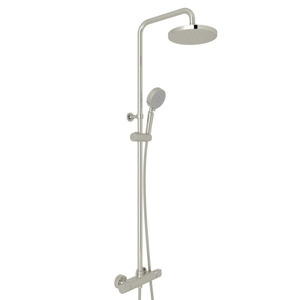 Polished Nickel Mod-Fino Exposed Wall Mount Thermostatic Shower System