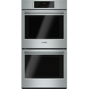 "Bosch800 Series, 27"", Double Wall Oven, SS, EU conv./Thermal, Touch Control"