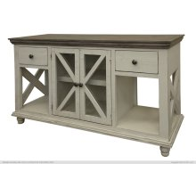 2 Drawer, 2 Door, Sofa Table, Ivory finish