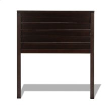Uptown Wooden Headboard Panel with Horizontal Board Design, Espresso Finish, Twin