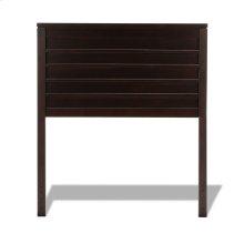 Uptown Wooden Headboard Panel with Horizontal Board Design, Espresso Finish, Twin