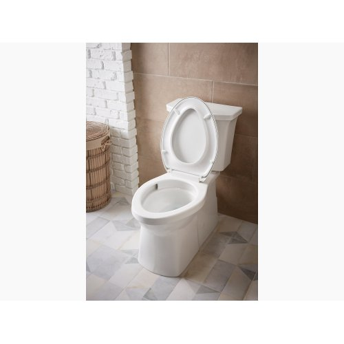 Black Black Comfort Height Two-piece Elongated 1.28 Gpf Toilet With Skirted Trapway and Revolution 360 Swirl Flushing Technology and Left-hand Trip Lever, Seat Not Included