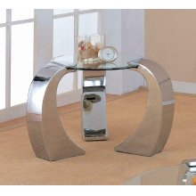 Contemporary Silver End Table