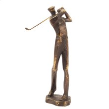Bronze Swinging Golf Player