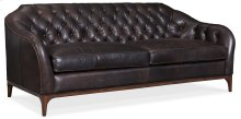 Living Room Mozart Leather Stationary Sofa