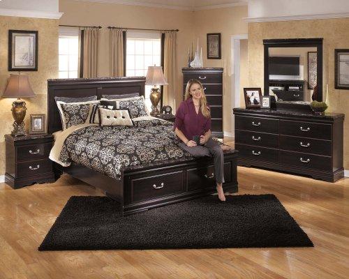 Esmarelda - Dark Merlot 2 Piece Bedroom Set