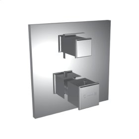 """1/2"""" Thermostatic Trim With 3-way Diverter in Polished K Gold"""