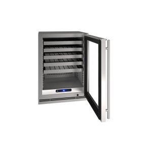"U-Line24"" Wine Refrigerator With Stainless Frame Finish (115 V/ 60 Hz Volts / 60 Hz Hz)"