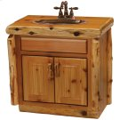 "Cedar Vanity - 30"" with Slab Style Top with Liquid Glass Finish - Sink Center Product Image"