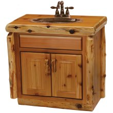 Cedar Vanity - Custom - without Top (will work with you to build to customer's specifications)