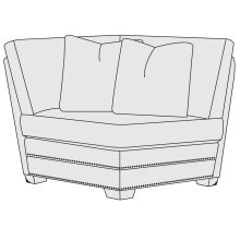 Grandview Corner Chair in Mocha (751)