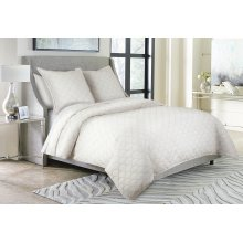 3pc King Duvet Set White