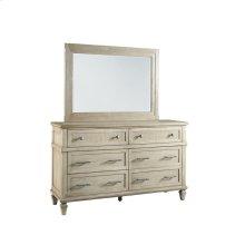 Drawer Dresser \u0026 Mirror - Flax Finish