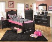 Jaidyn - Black 6 Piece Bed Set (Full)