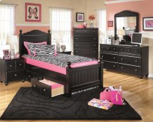 Jaidyn - Black 6 Piece Bed Set (Full)