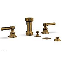 HENRI Four Hole Bidet Set - Lever Handles 161-61 - French Brass