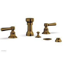 HENRI Four Hole Bidet Set - Lever Handles 161-61 - French Brass
