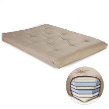 8-Inch Futon Mattress with Multi-Layer Cotton and Foam Core, Khaki