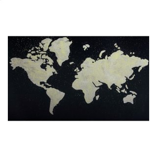 Black Map Wall Décor