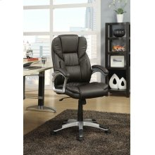 Transitional Dark Brown Office Chair
