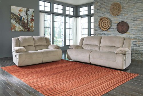 Toletta 2 Seat Reclining Sofa - Granite