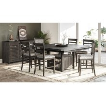 Altamonte Square Counter Height Table - Brushed Grey