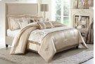 10 Pc Queen Comforter Set Sand Product Image