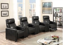 Arcadia Brown Push-Back 4-Piece Reclining Theater Set