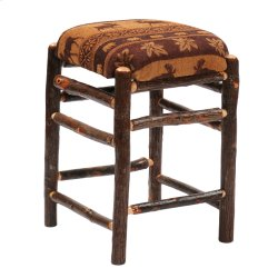 """Hickory Square Backless Barstool with Upholstered Seat - 30"""" - Standard Fabric"""